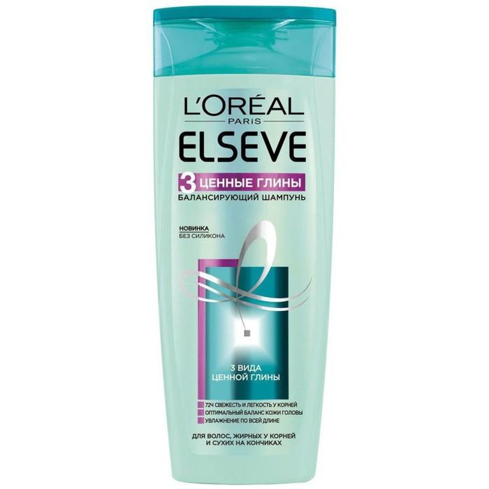 Шампунь Elseve «3 Ценные Глины», балансирующий, для смешанного типа волос, 250 мл