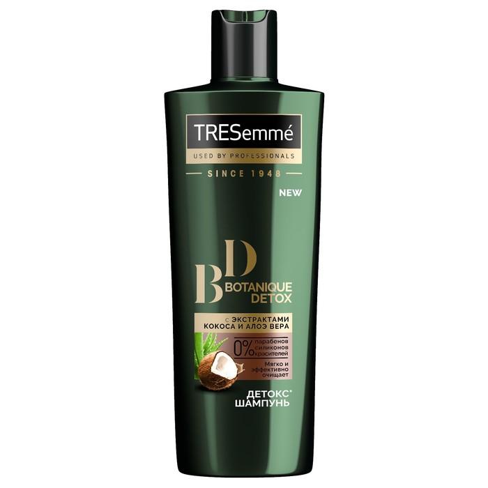Шампунь для волос-детокс Tresemme Botanique Detox, с экстрактами кокоса и алоэ вера, 400 мл