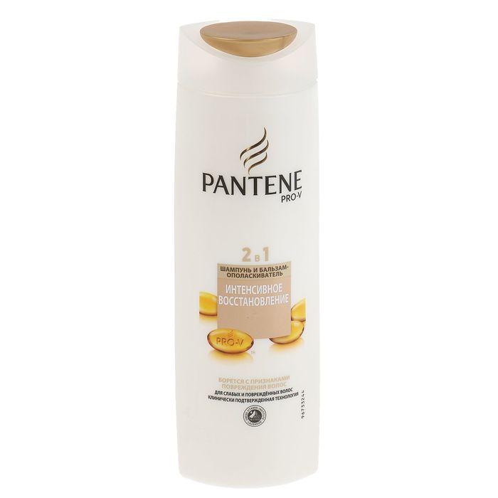 Шампунь для волос Pantene 2 в 1 «Интенсивное восстановление», для слабых и поврежденных волос, 400 мл