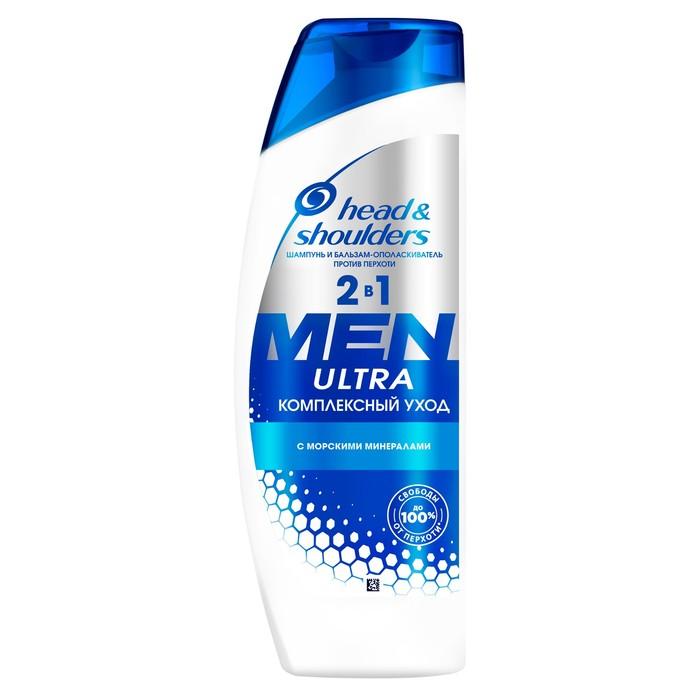 Шампунь для волос 2 в 1 Head & Shoulders Men ultra «Комплексный уход», увлажняющий, 400 мл
