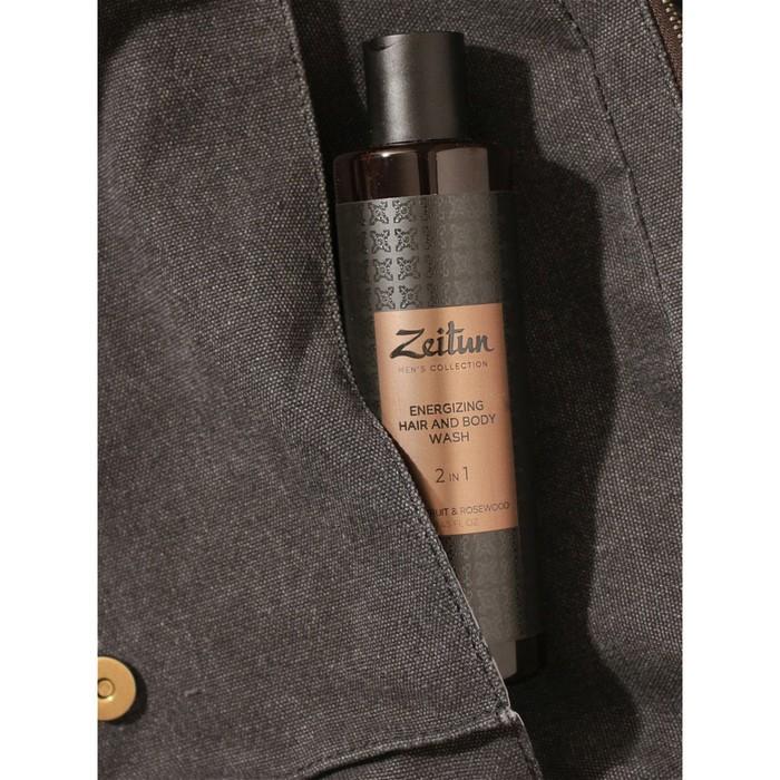 Очищающий гель для волос и тела, мужской Zeitun, 2 в 1, с грейпфрутом и розовым деревом, 250 мл