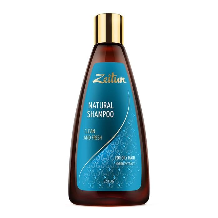 Шампунь Zeitun «Здоровье и свежесть», для жирных волос, с экстрактом мирры, 250 мл