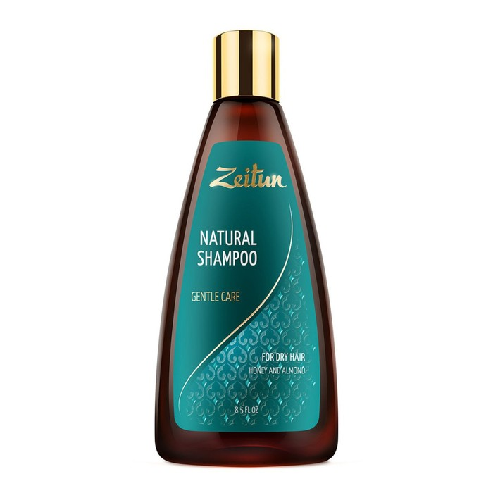Шампунь для волос Zeitun «Нежное очищение», для сухих волос, с мёдом и маслом миндаля, 250 мл