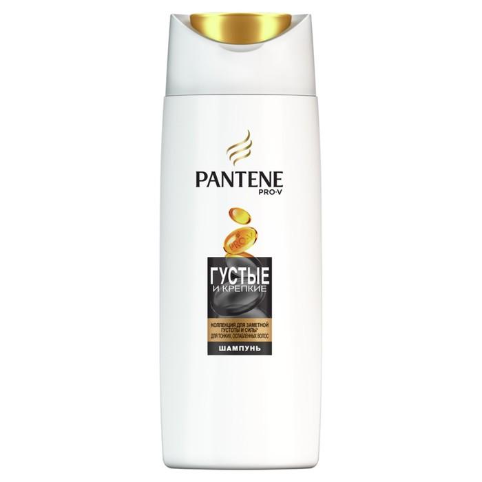 Шампунь для волос Pantene «Густые и крепкие», для тонких и ослабленных волос, 90 мл