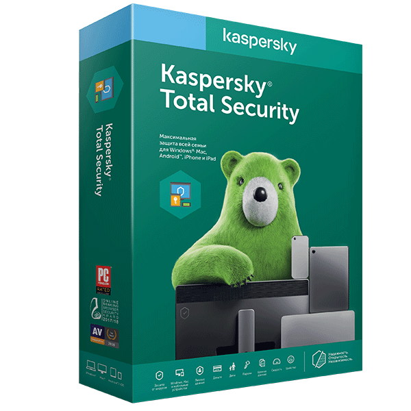 Антивирус Kaspersky Total Security на 12 м, 3 (win, os x, and), ESD