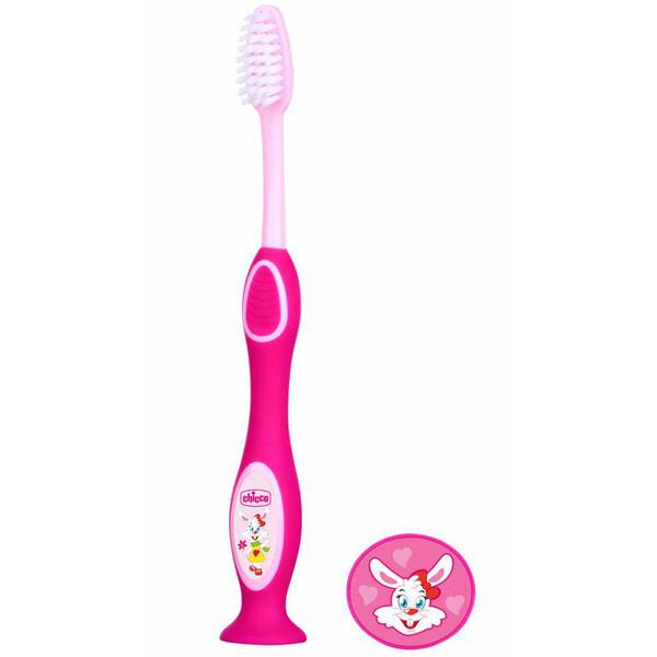 Зубная щетка розовая 3-6 лет Chicco