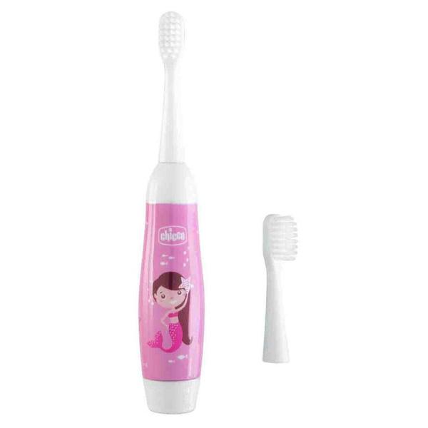 Зубная щетка электрическая детская розовая 3г+ Chicco