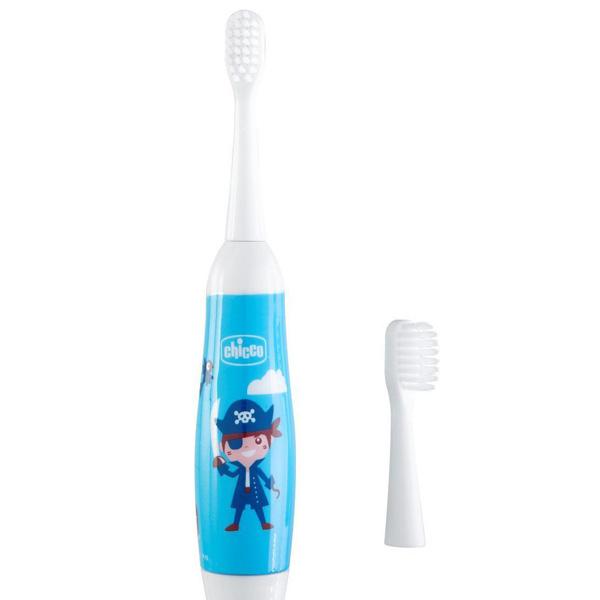 Зубная щетка электрическая детская синяя 3г+ Chicco