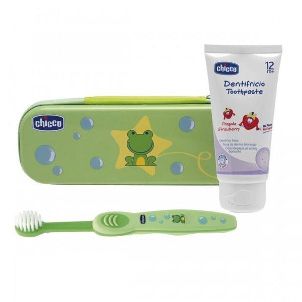Набор для ухода за полостью рта Chicco  (зубная щетка и паста) унисекс 12+