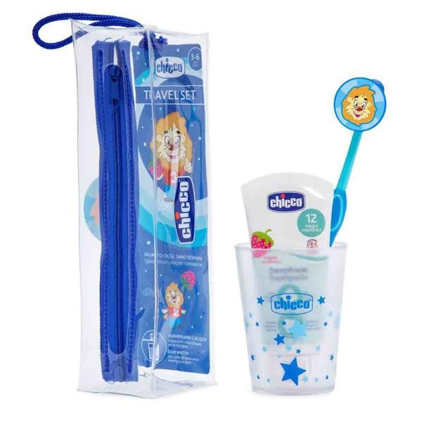 Набор по уходу за полостью рта: зубная щетка, зубная паста, стаканчик. 3г+ для мальчика Chicco