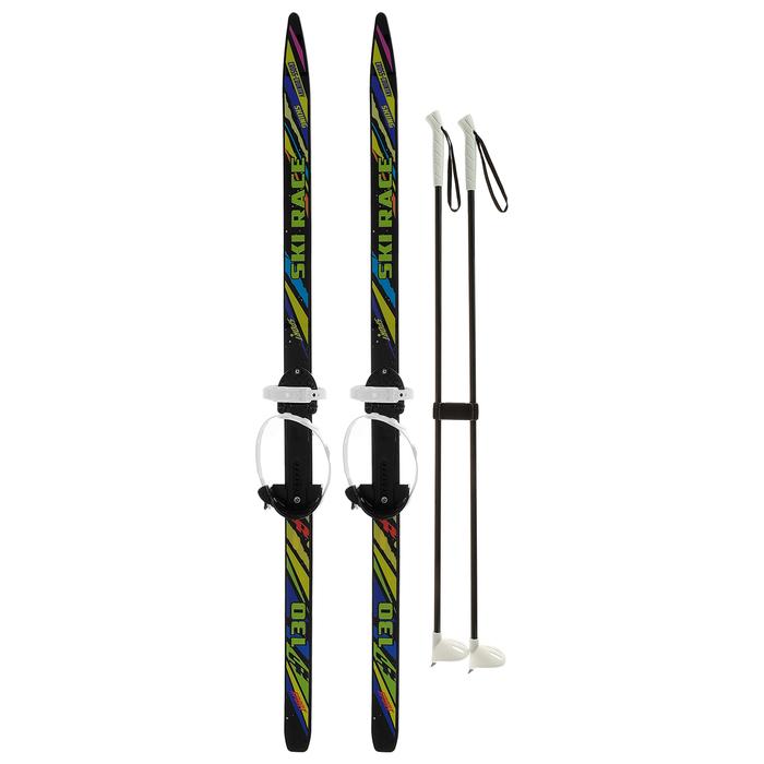Лыжи подростковые «Ski Race» с палками, 140/105 см