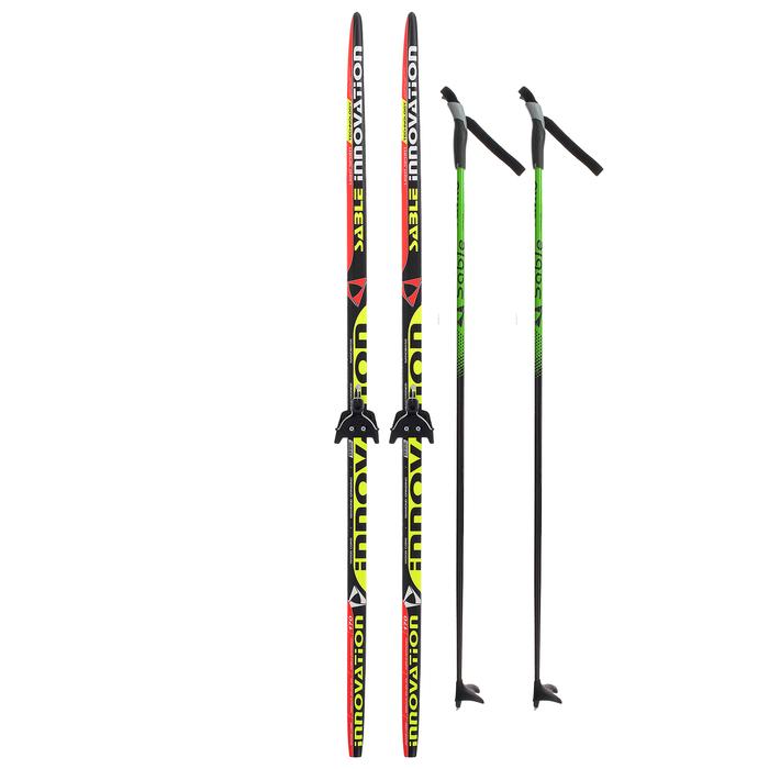 Комплект лыжный БРЕНД ЦСТ 170/130 (+/-5 см), крепление 0075 мм, цвет МИКС
