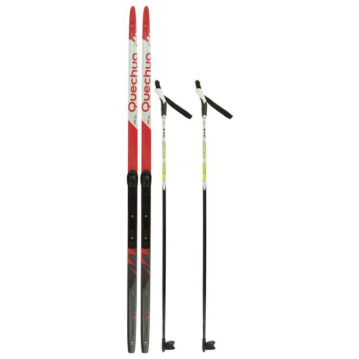 Комплект лыжный БРЕНД ЦСТ Step, 160/120 (+/-5 см), крепление SNS, цвет МИКС