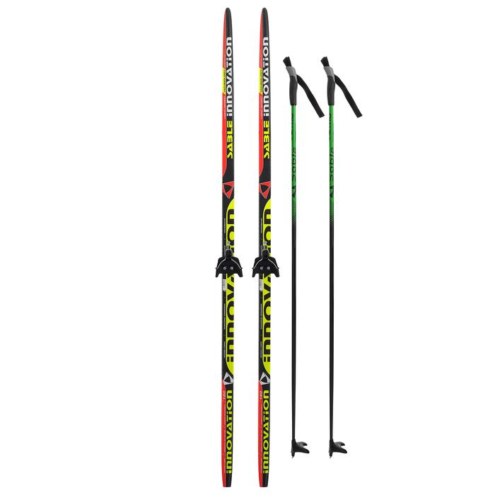 Комплект лыжный БРЕНД ЦСТ 180/140 (+/-5 см), крепление 0075 мм, цвет МИКС