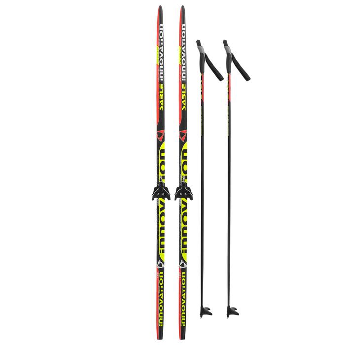 Комплект лыжный БРЕНД ЦСТ 185/145 (+/-5 см), крепление 0075 мм, цвет МИКС