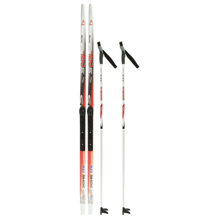 Комплект лыжный БРЕНД ЦСТ Step, 170/130 (+/-5 см), крепление SNS