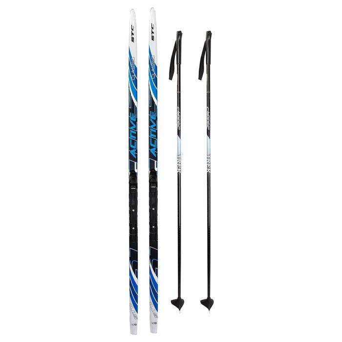 Комплект лыжный БРЕНД ЦСТ Step, 170/130 (+/-5 см), крепление NNN, цвет МИКС