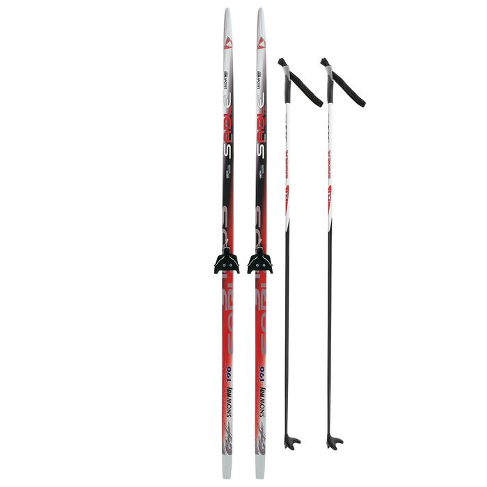 Комплект лыжный БРЕНД ЦСТ 190/150 (+/-5 см), крепление 0075 мм, цвет МИКС