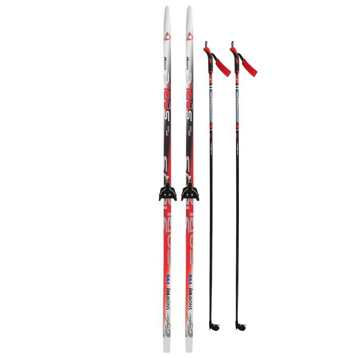 Комплект лыжный БРЕНД ЦСТ 195/155 (+/-5 см), крепление 0075 мм, цвет МИКС