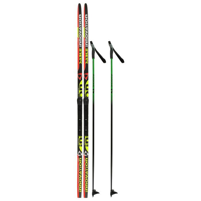 Комплект лыжный БРЕНД ЦСТ 180/140 (+/-5 см), крепление SNS, цвет МИКС