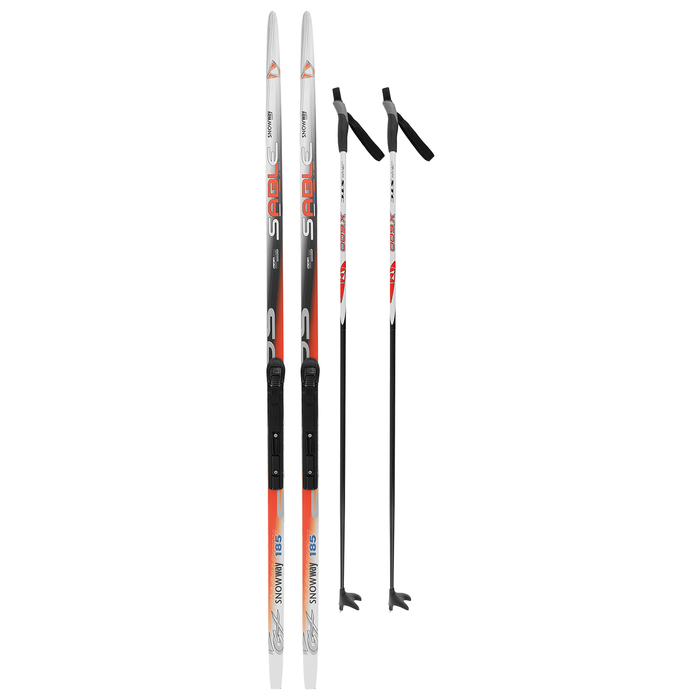 Комплект лыжный БРЕНД ЦСТ (Step, 185/145 (+/-5 см), крепление: SNS), цвета МИКС
