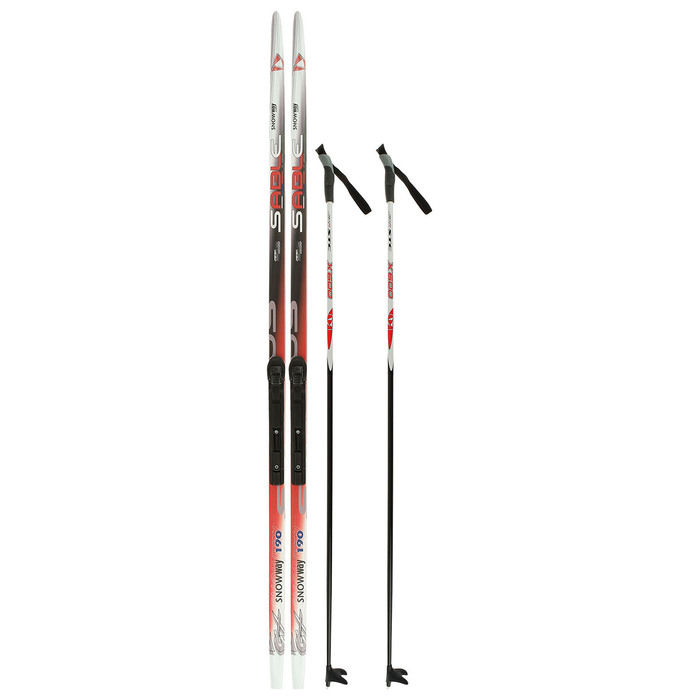 Комплект лыжный БРЕНД ЦСТ 190/150 (+/-5 см), крепление SNS