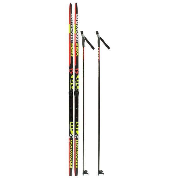 Комплект лыжный БРЕНД ЦСТ 195/155 (+/-5 см), крепление SNS