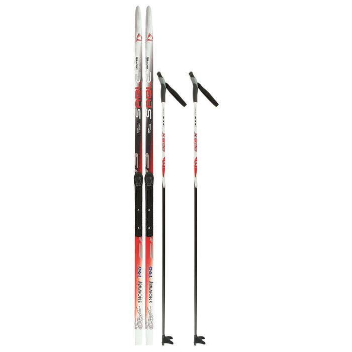 Комплект лыжный БРЕНД ЦСТ 190/150 (+/-5 см), крепление NNN, цвет микс