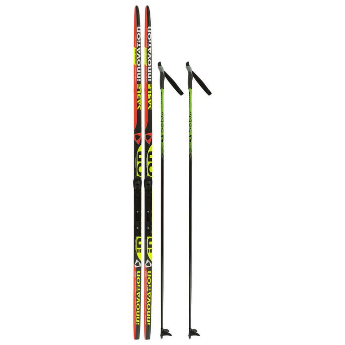 Комплект лыжный БРЕНД ЦСТ 200/160 (+/-5 см), крепление SNS