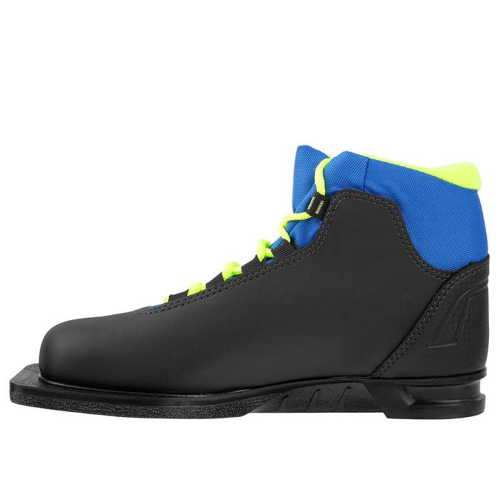 Ботинки лыжные TREK Soul NN75 ИК, цвет чёрный, лайм неон, размер 38