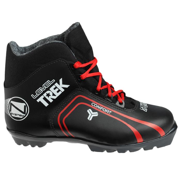 Ботинки лыжные TREK Level 2 NNN ИК, цвет чёрный, лого красный, размер 43
