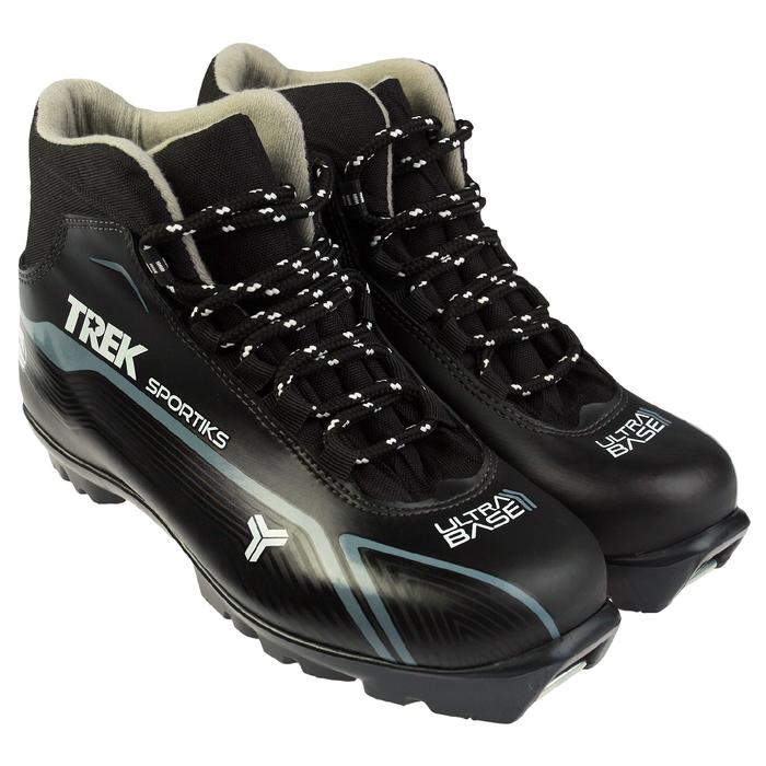 Ботинки лыжные TREK Sportiks NNN ИК, цвет чёрный, лого серый, размер 42