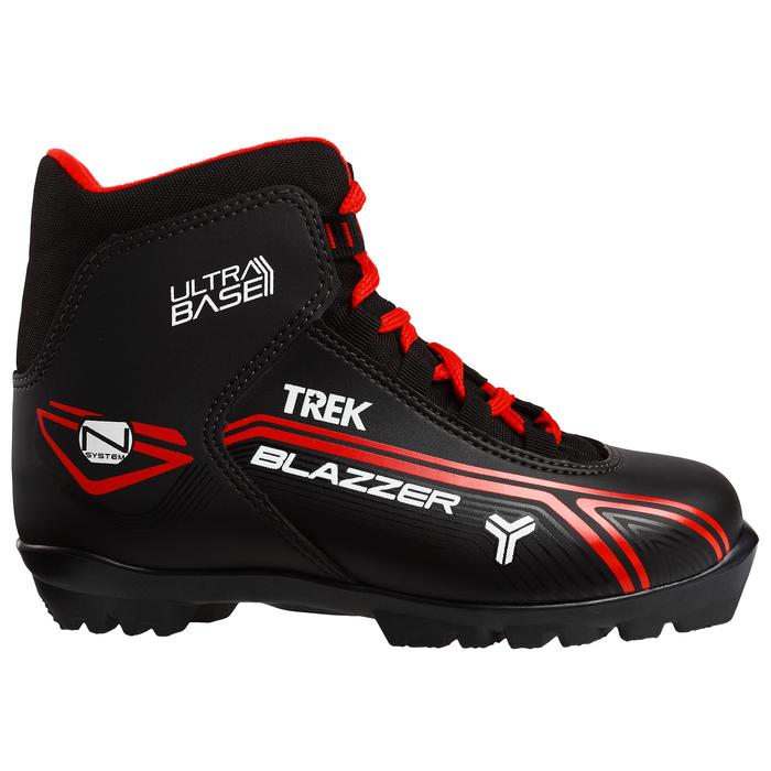 Ботинки лыжные TREK Blazzer NNN ИК, цвет чёрный, лого красный, размер 44