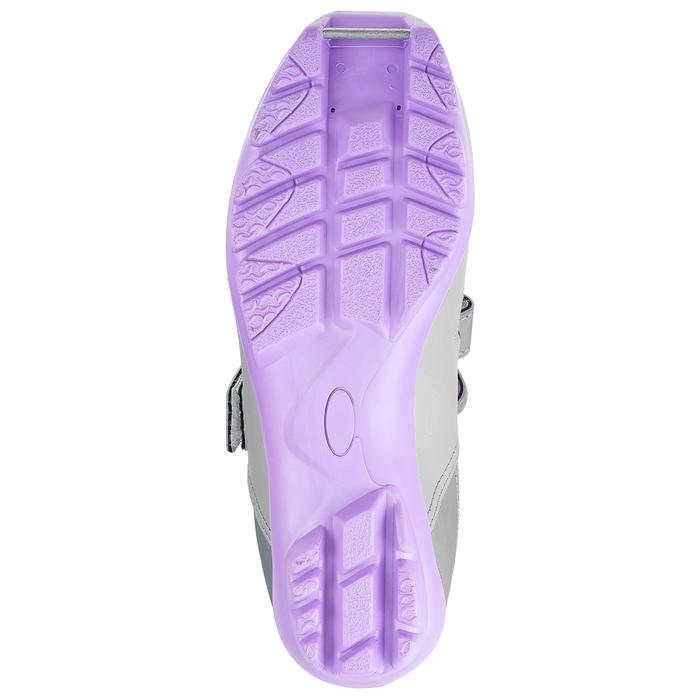 Ботинки лыжные TREK Kids NNN ИК, цвет металлик, лого серебро, размер 36