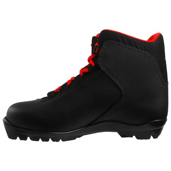 Ботинки лыжные TREK Blazzer NNN ИК, цвет чёрный, лого красный, размер 39