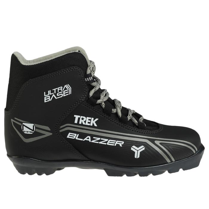 Ботинки лыжные TREK Blazzer NNN ИК, цвет чёрный, лого серый, размер 42