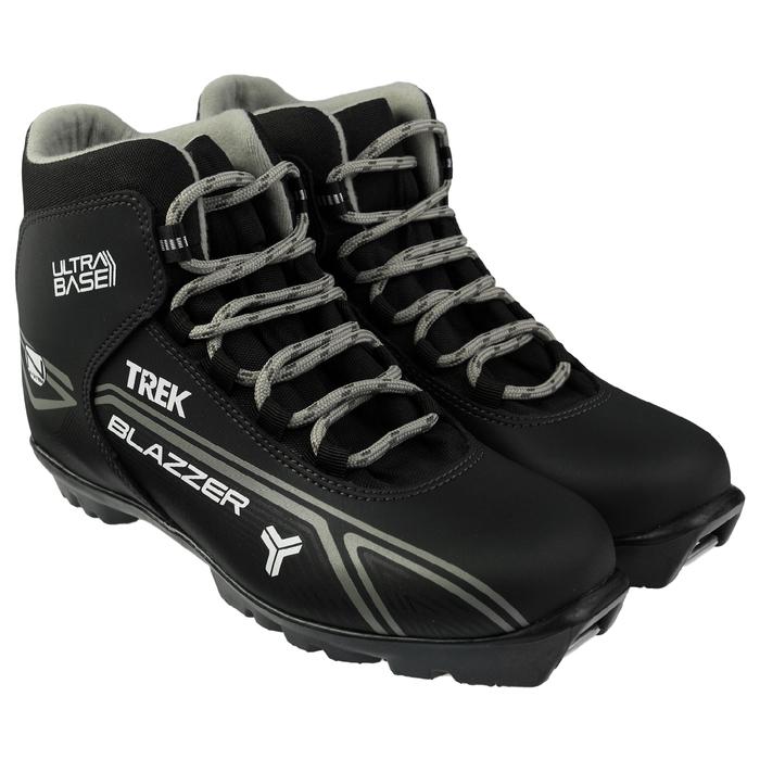 Ботинки лыжные TREK Blazzer NNN ИК, цвет чёрный, лого серый, размер 38
