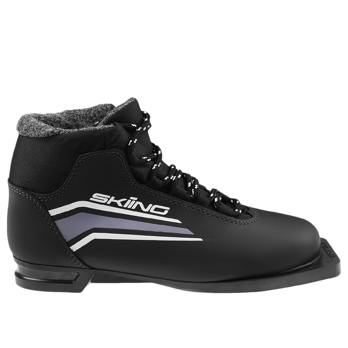 Ботинки лыжные ТРЕК Skiing ИК NN75, чёрный, лого серый, размер 35