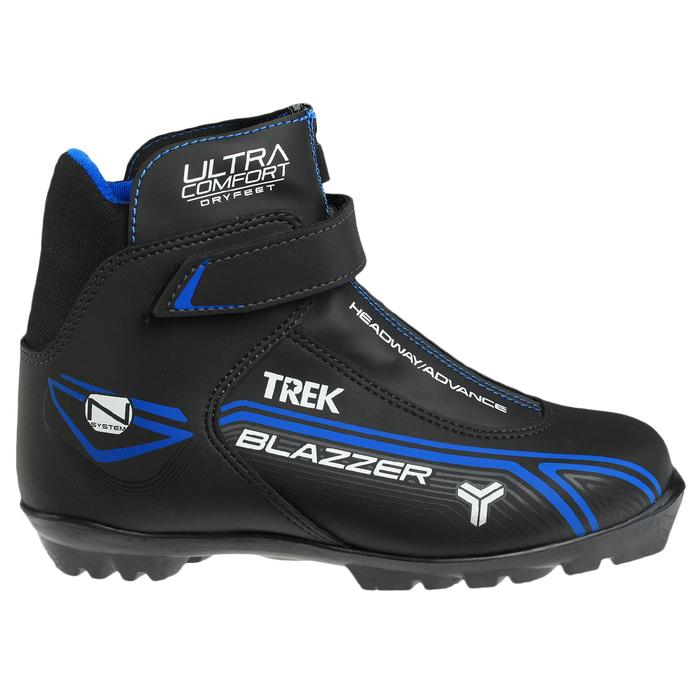 Ботинки лыжные TREK Blazzer Control 3 NNN ИК, цвет чёрный, лого синий, размер 38