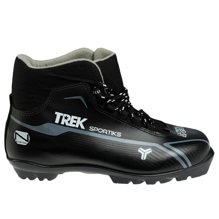 Ботинки лыжные TREK Sportiks NNN ИК, цвет чёрный, лого серый, размер 40