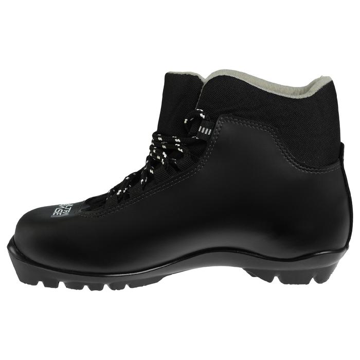 Ботинки лыжные TREK Sportiks NNN ИК, цвет чёрный, лого серый, размер 38