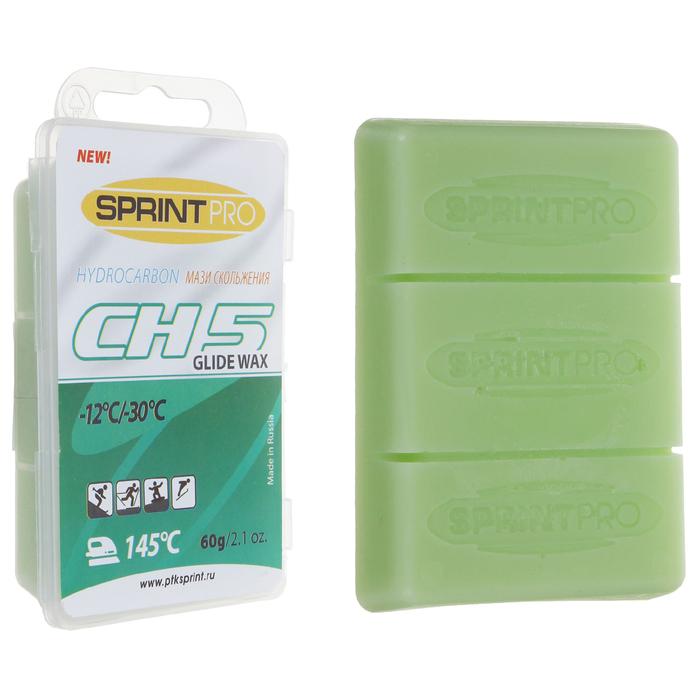 Мази скольжения SPRINT PRO, CH5 Green, (-12 -30°C), 60г