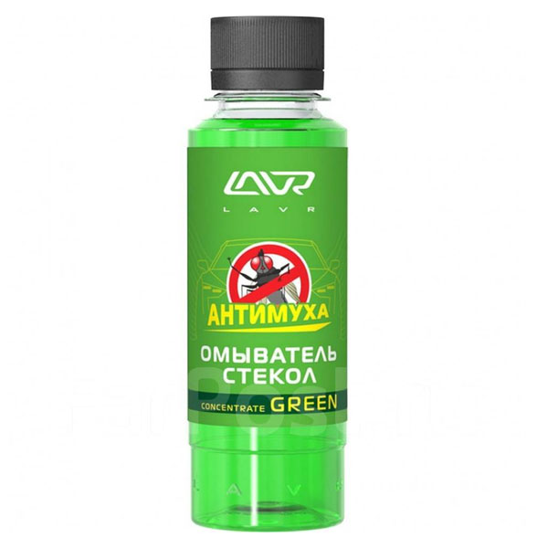 Омыватель стекол концентрат LAVR Анти Муха Green  Glass Washer Concentrate Anti Fly 330мл