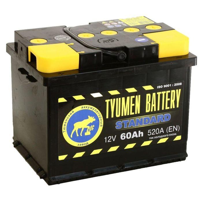 Аккумуляторная батарея Тюмень 60 Ач 6СТ-60L, Standard
