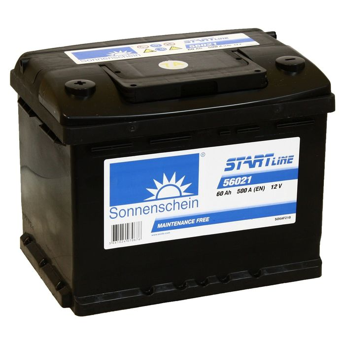 Аккумуляторная батарея Sonnenschein 60 Ач, Start Line SO 56021, прямая полярность