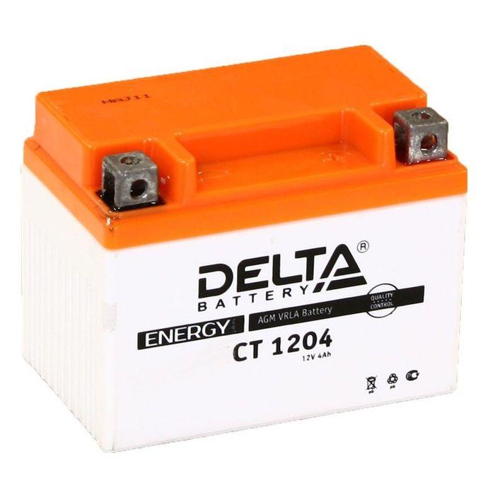 Аккумуляторная батарея Delta СТ1204 (YB4L-B, YB4L-A, YTX4L-BS)12V, 4 Ач обратная(- +)