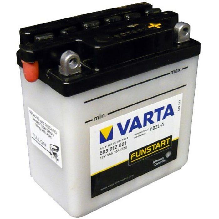 Аккумуляторная батарея Varta 3 Ач Moto 503 012 001 (YB3L-A)