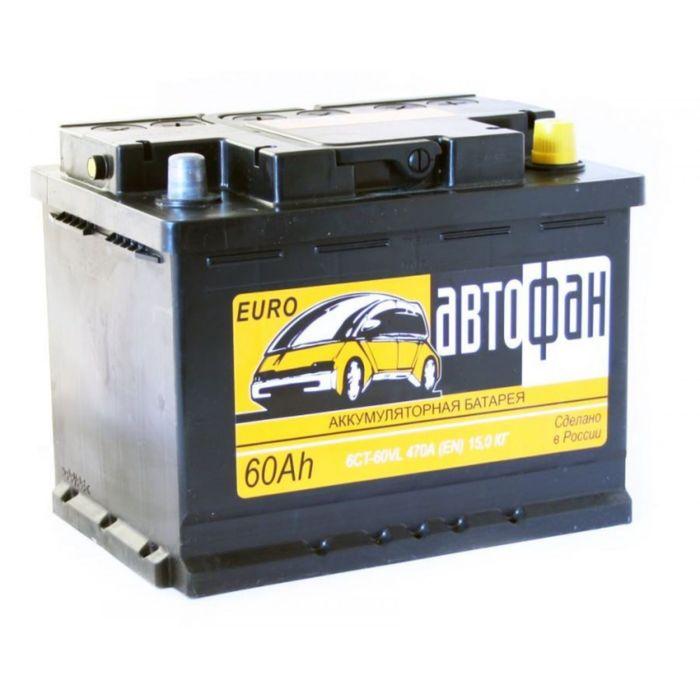 Аккумуляторная батарея Автофан 60 А/ч - 6 СТ АПЗ, обратная полярность
