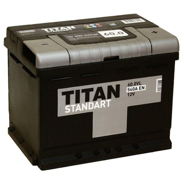 Аккумуляторная батарея Titan Standart 60 Ач, обратная полярность