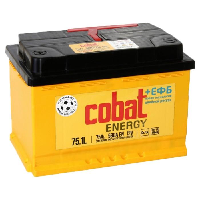Аккумуляторная батарея Cobat 75 Ач Energy 6СТ-75.1